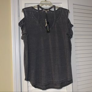 NWT Express One Eleven cut out short sleeve shirt